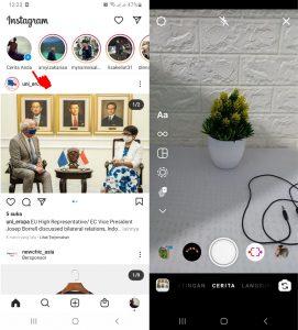Cara Menggunakan Filter Instagram Ada Lagu Musik di HP Android 2