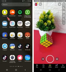 Cara Menggunakan Filter SnapChat Untuk Story IG via HP Android 1
