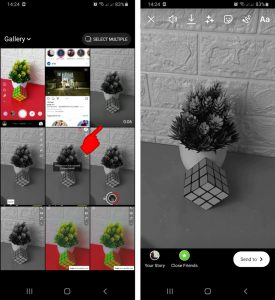 Cara Menggunakan Filter SnapChat Untuk Story IG via HP Android 5