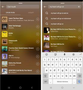 Cara Memasukan MusikLagu di Instagram Story HP Android 5