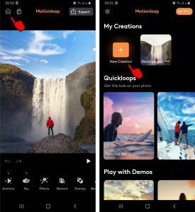 Cara Mengedit Foto Dengan Aplikasi Motionleap di HP Android 3