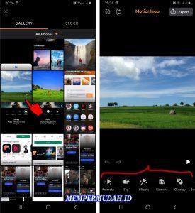 Cara Mengedit Foto Dengan Aplikasi Motionleap di HP Android 4