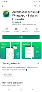 Trick Menjawab Pesan Chat Otomatis di WhatsApp HP Android 1