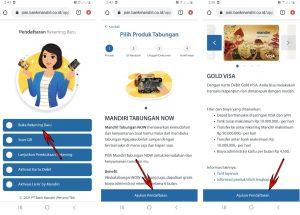 Cara Buka Rekening Mandiri + ATM Dari Smartphone Android 2