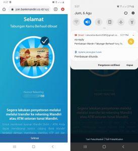 Cara Buka Rekening Mandiri + ATM Dari Smartphone Android 6