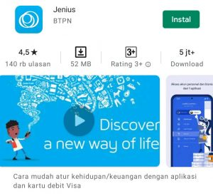 Cara Mendaftar Jenius + ATM di Aplikasi Smartphone Android 1