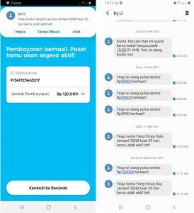 Cara Beli Paket Telkomsel Byu Khusus Download Banyak Kuota di Android 5
