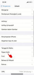 Cara Matikan Fitur Koreksi Otomatis di Keyboard HP iPhone (iOS) 3