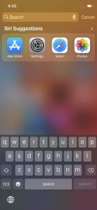 Cara Mencari Aplikasi Dengan Cepat di Menu iPhone 2