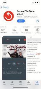 Cara Dengarkan Musik Lagu Youtube Berulang (Repeat) di iPhone 1