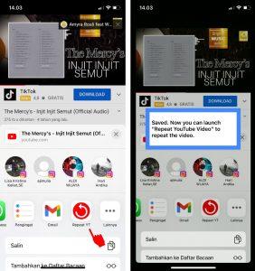 Cara Dengarkan Musik Lagu Youtube Berulang (Repeat) di iPhone 4