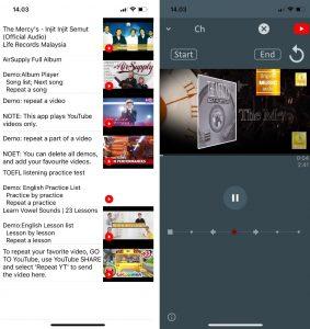 Cara Dengarkan Musik Lagu Youtube Berulang (Repeat) di iPhone 5