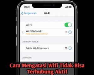 Cara Mengatasi Wifi Tidak Bisa AktifHidup di Perangkat iPhone